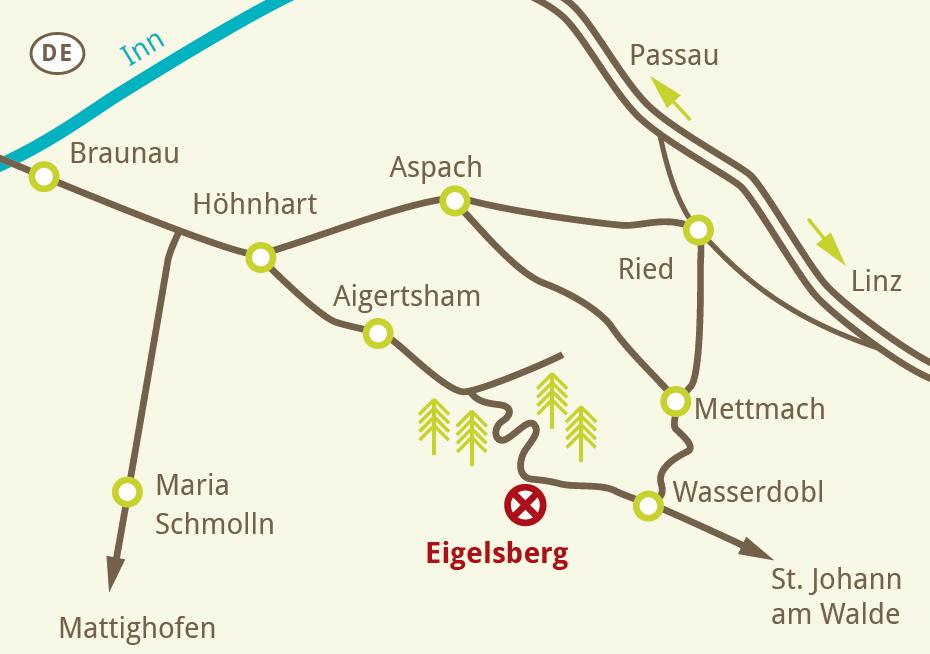 Karte Anfahrt Eigelsberg
